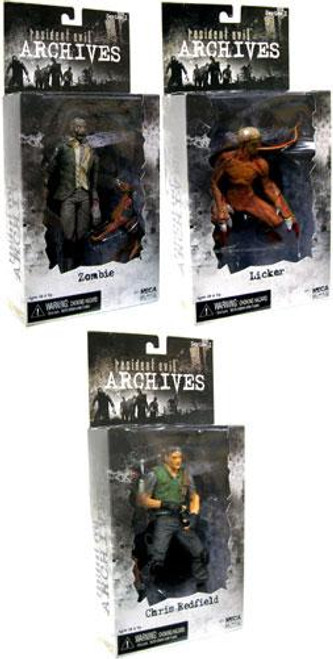 NECA Resident Evil Archives Series 1 Series 1 Set of 3 Action Figure