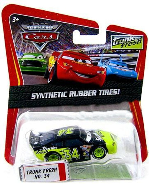 Disney Cars The World of Cars Synthetic Rubber Tires Trunk Fresh No. 34 Exclusive Diecast Car