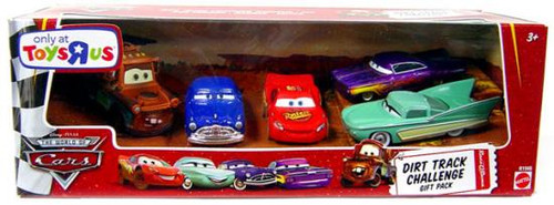Disney Cars The World of Cars Multi-Packs Dirt Track Challenge Gift Pack Exclusive Diecast Car Set