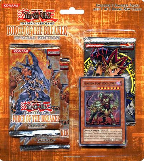 YuGiOh Force of the Breaker Special Edition Pack [Phantom Beast Rock-Lizard] [Sealed]
