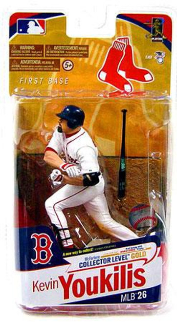McFarlane Toys MLB Boston Red Sox Sports Picks Series 26 Kevin Youkilis Action Figure [White Jersey]