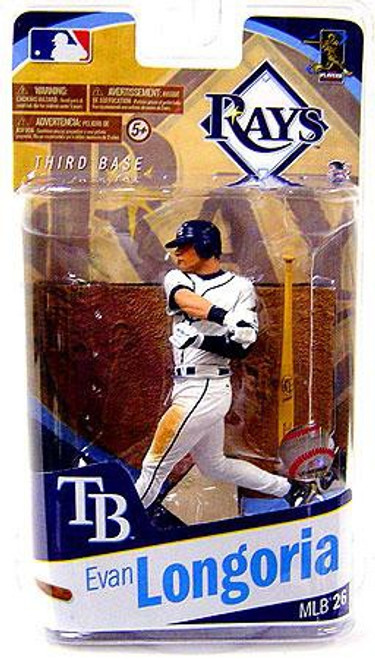 McFarlane Toys MLB Tampa Bay Rays Sports Picks Series 26 Evan Longoria Action Figure [White Jersey]