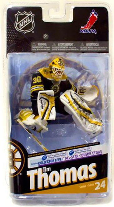 McFarlane Toys NHL Boston Bruins Sports Picks Series 24 Tim Thomas Action Figure [Black Jersey]