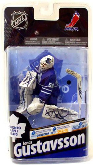 McFarlane Toys NHL Toronto Maple Leafs Sports Picks Series 24 Jonas Gustavsson Action Figure [Blue Jersey]