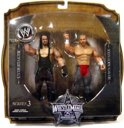 WWE Wrestling WrestleMania 25 Series 3 Undertaker & Shawn Michaels Action Figure 2-Pack