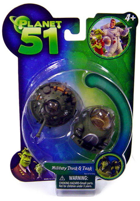 Planet 51 Military Truck & Tank Mini Figure 2-Pack