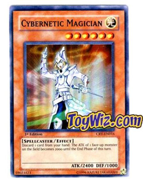 YuGiOh Cybernetic Revolution Super Rare Cybernetic Magician CRV-EN016