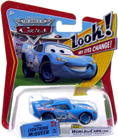 Disney Cars The World of Cars Lenticular Eyes Series 1 Dinoco Lightning McQueen Diecast Car