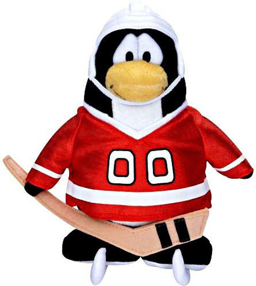 Club Penguin Series 5 Hockey Player 6.5-Inch Plush Figure [Red Jersey]