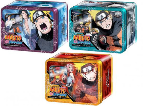 Naruto Shippuden Card Game Set of 3 Fierce Ambitions Collector Tins
