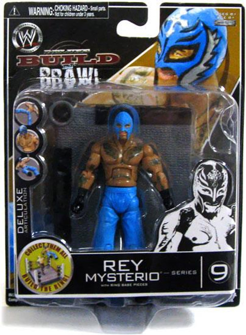 WWE Wrestling Build N' Brawl Series 9 Rey Mysterio Action Figure