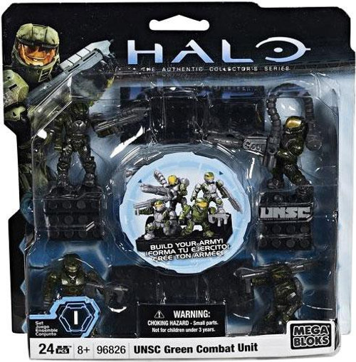 Mega Bloks Halo The Authentic Collector's Series UNSC Green Combat Unit Set #96826