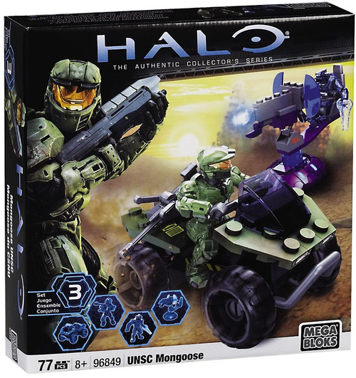Mega Bloks Halo The Authentic Collector's Series UNSC Mongoose Set #96849