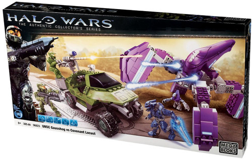 Mega Bloks Halo The Authentic Collector's Series UNSC Gausshog Vs. Covenant Locust Set #96823