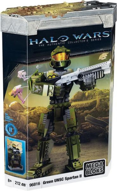 Mega Bloks Halo The Authentic Collector's Series Green UNSC Spartan II Set #96816