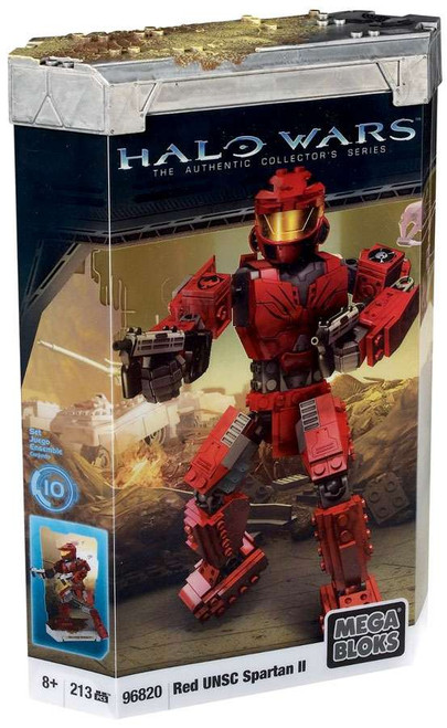 Mega Bloks Halo The Authentic Collector's Series Red UNSC Spartan II Set #96820