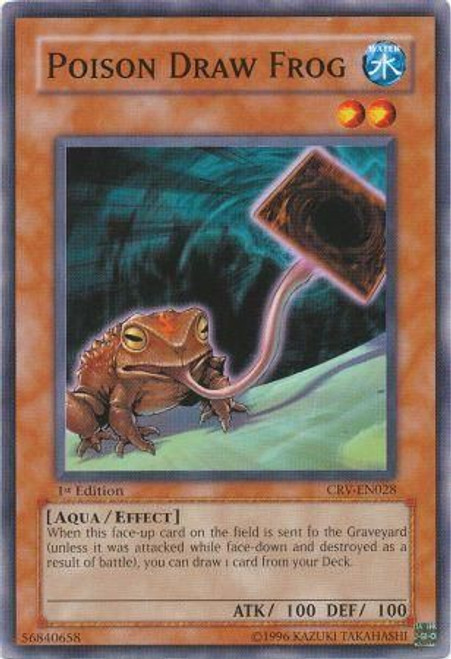 YuGiOh Cybernetic Revolution Common Poison Draw Frog CRV-EN028