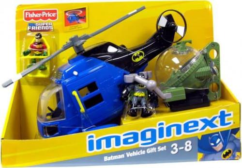 Fisher Price DC Super Friends Imaginext Batman Vehicle Gift Set Exclusive 3-Inch Figure Set