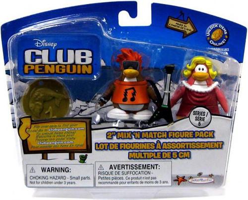 Club Penguin Mix 'N Match Series 5 Ruby & Rockstar Mini Figure Set