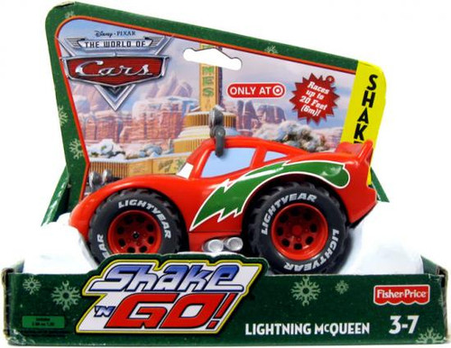 Disney Cars The World of Cars Shake 'N Go Christmas Lightning McQueen Exclusive Shake 'N Go Car