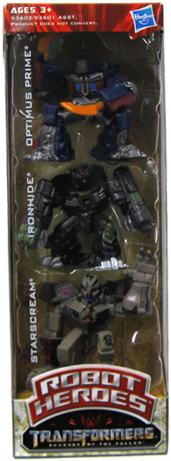 Transformers Revenge of the Fallen Robot Heroes Optimus Prime, Ironhide & Starscream Exclusive Figure 3-Pack
