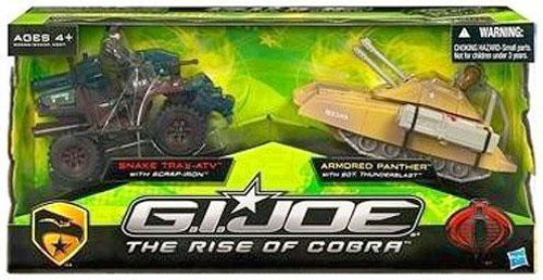 GI Joe The Rise of Cobra Snake Trax ATV & Armored Panther Exclusive Action Figure Vehicle