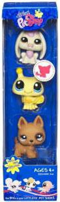 Littlest Pet Shop Rabbit, Bee & Puppy Figure 3-Pack