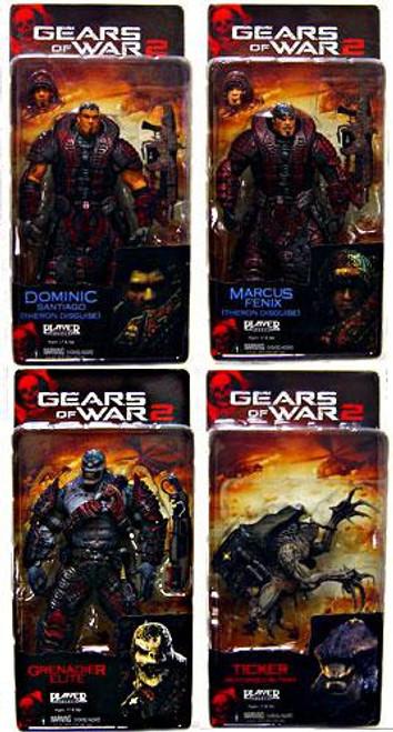 NECA Gears of War 2 Series 4 Set of 4 Action Figures
