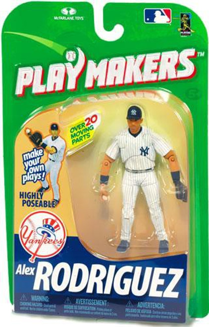 McFarlane Toys MLB New York Yankees Playmakers Series 1 Alex Rodriguez Action Figure [Fielding]