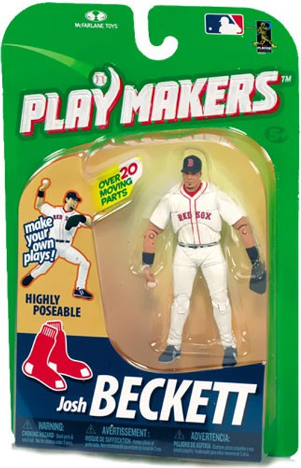 McFarlane Toys MLB Boston Red Sox Playmakers Series 1 Josh Beckett Action Figure [Fielding]