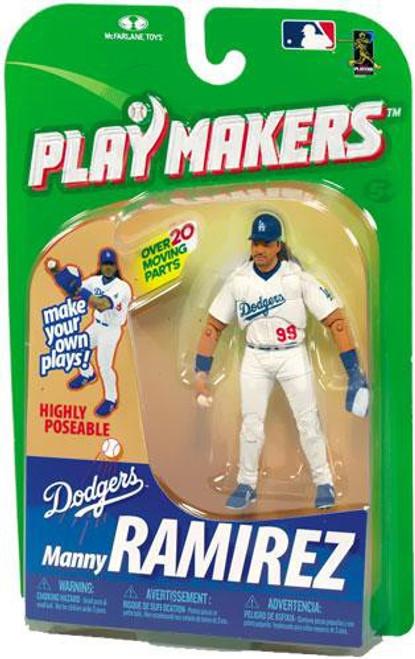 McFarlane Toys MLB Los Angeles Dodgers Playmakers Series 1 Manny Ramirez Action Figure [Fielding]