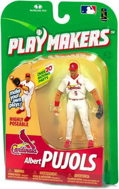 McFarlane Toys MLB St. Louis Cardinals Playmakers Series 1 Albert Pujols Action Figure [Fielding]