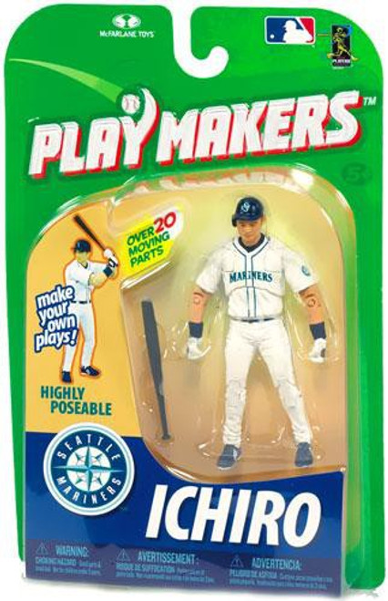 McFarlane Toys MLB Seattle Mariners Playmakers Series 1 Ichiro Suzuki Action Figure [Batting]