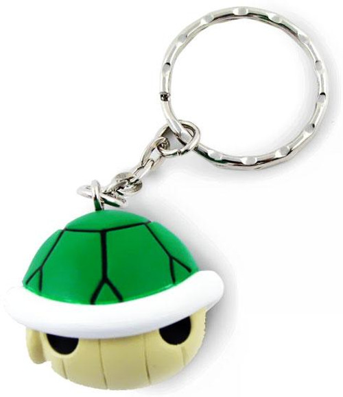 Super Mario Mario Kart Wii Volume 2 Soft PVC Green Turtle Shell Keychain