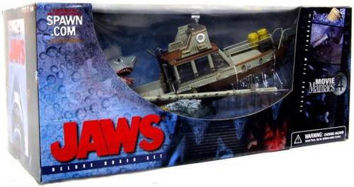 McFarlane Toys Movie Maniacs Series 4 Jaws Action Figure Set [Opened Package - Broken Spotlight]