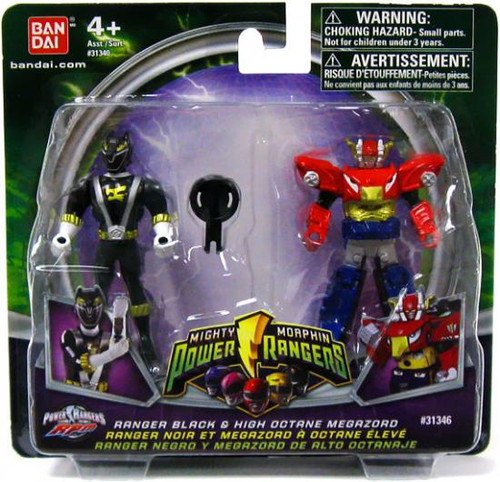 Power Rangers Mighty Morphin 2009 Ranger Black & High Octane Megazord Action Figure 2-Pack