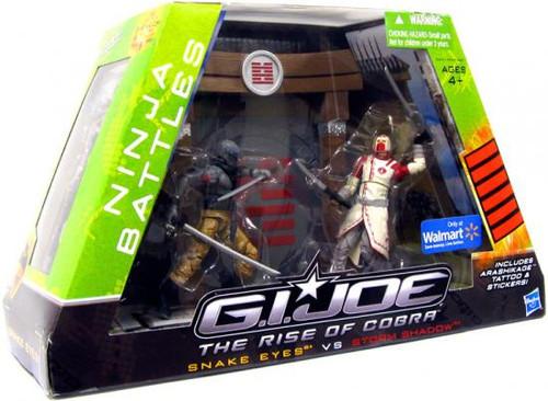 GI Joe The Rise of Cobra Ninja Battles Snake Eyes vs. Storm Shadow Exclusive Action Figure Set