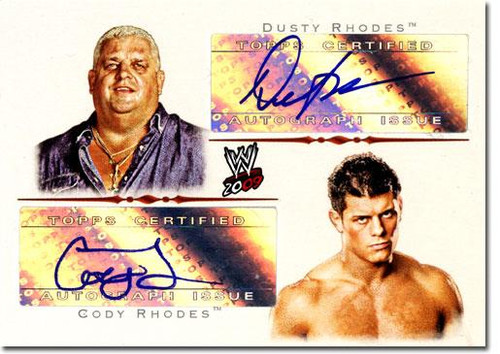 WWE Wrestling 2009 Trading Cards Authentic Autograph Dusty & Cody Rhodes