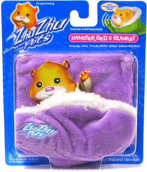 Zhu Zhu Pets Hamster Bed & Blanket Accessory Set [Purple]