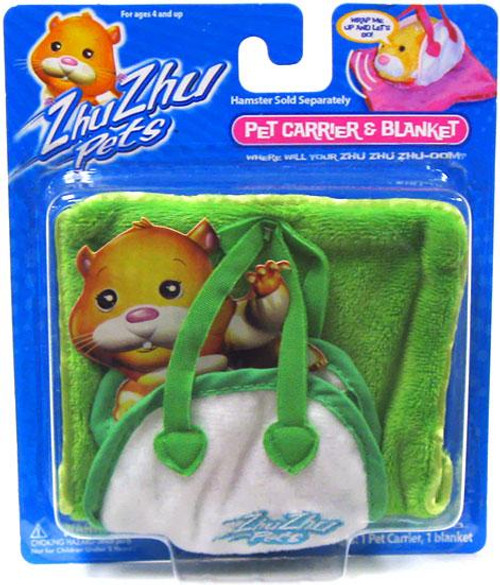Zhu Zhu Pets Pet Carrier & Blanket Accessory Set [Green]