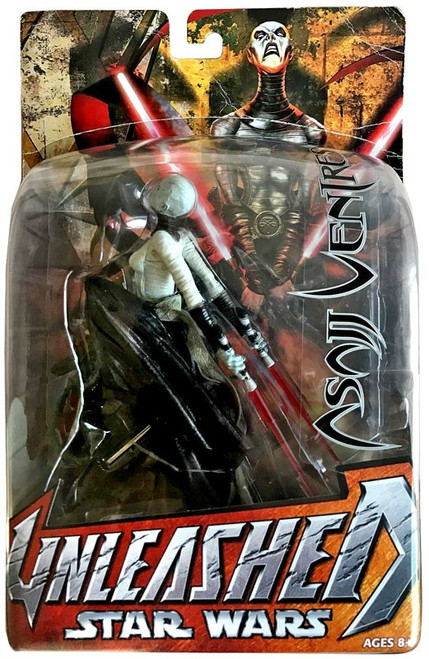Star Wars The Clone Wars Unleashed Series 2 Asajj Ventress Action Figure