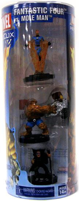 Marvel HeroClix Classics Fantastic Four vs. Mole Man Figure 3-Pack