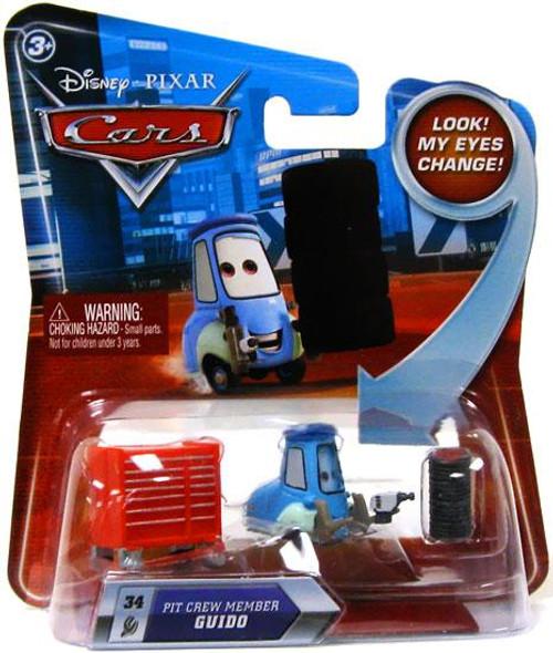 Disney Cars Lenticular Eyes Series 2 Pit Crew Member Guido Diecast Car