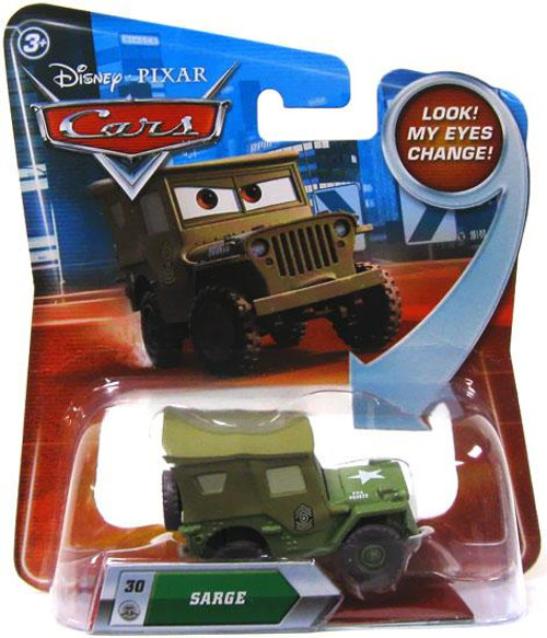 Disney Cars Lenticular Eyes Series 2 Sarge Diecast Car