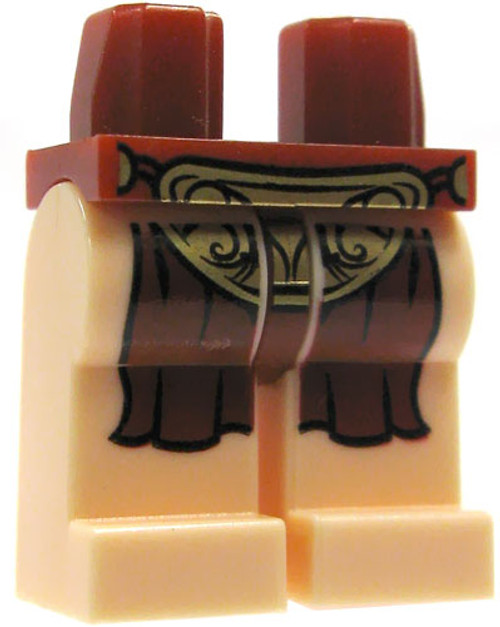 LEGO Star Wars Minifigure Parts Light Flesh with Dark Red Loincloth Loose Legs [Loose]