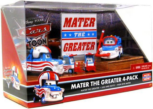 Disney Cars Cars Toon Multi-Packs Mater the Greater 4-Pack Diecast Car Set [Set #1]
