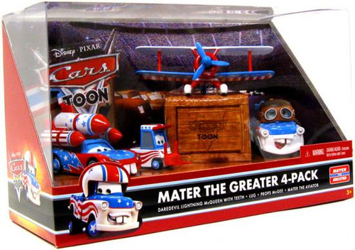 Disney Cars Cars Toon Multi-Packs Mater the Greater 4-Pack Diecast Car Set [Set #2]