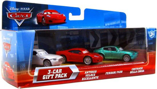 Disney Cars Multi-Packs Italian Cars 3-Car Gift Pack Diecast Car Set