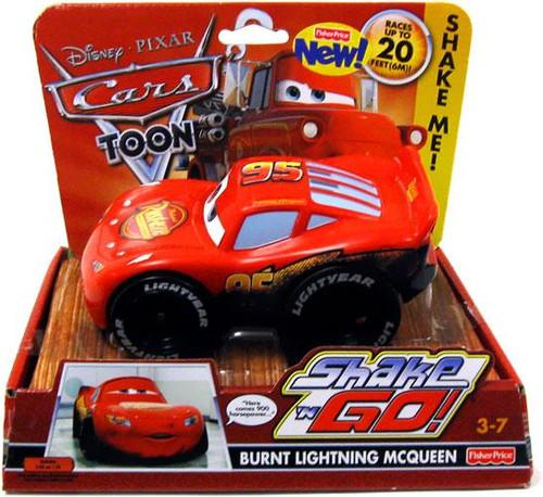 Disney Cars Cars Toon Shake 'N Go Burnt Lightning McQueen Shake 'N Go Car