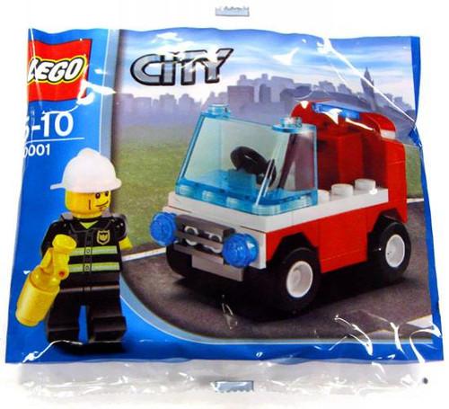 LEGO City Fireman's Car Exclusive Mini Set #30001 [Bagged]